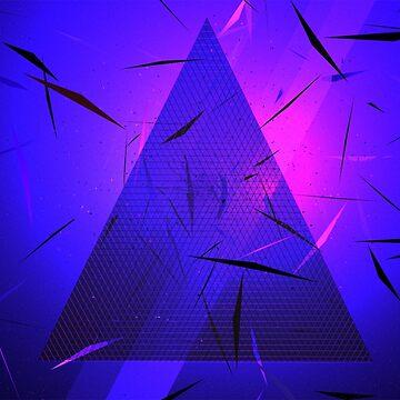 Urban Abstraction - Triangular Neon by tee-fury