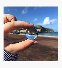 llandudno through a mini glass ball Photographic Print