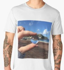 llandudno through a mini glass ball Men's Premium T-Shirt