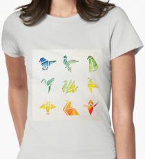 Watercolour Origami Birds T-Shirt