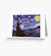 Vincent Van Gogh Starry Night Greeting Card