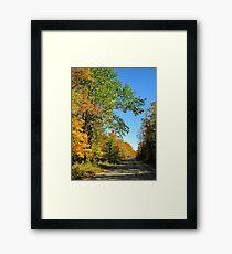 Autumn Road Inspiration  Framed Print