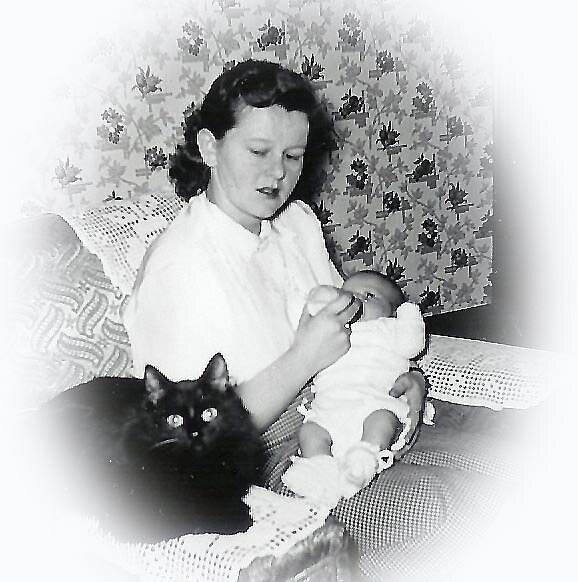 Mom & Me...1952 by Maria Dryfhout