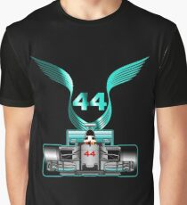 Lewis Hamilton on his car Graphic T-Shirt