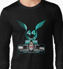 Lewis Hamilton on his car Long Sleeve T-Shirt