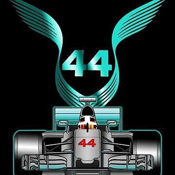 Lewis Hamilton on his car by ideasfinder