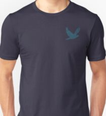 Peace Dove Love Blue Flying Bird Teal Blue T-Shirt