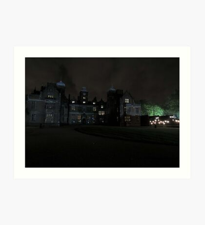 Aston Hall by Candlelight (Exterior) Art Print
