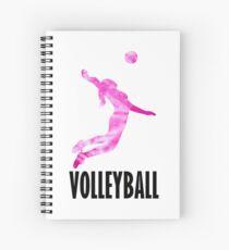 Volleyball Pink Tie Dye Design Spiral Notebook