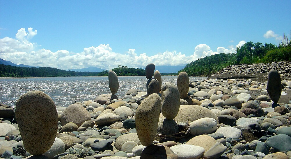 Vertical rocks by the river, Peru by mojgan