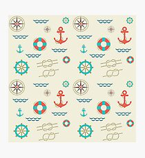 Nautical pattern. Hipster image Photographic Print
