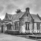 The Gardeners Lodge in Black & White by Michael Matthews