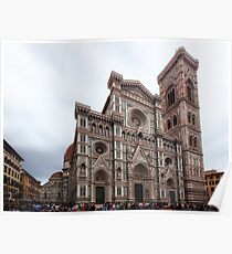 Cathedral of Saint Mary of the Flower - Florence - Italy Poster