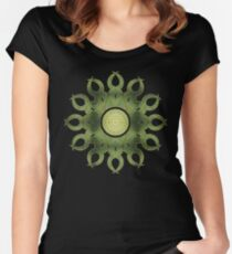 Leaf Mandala Women's Fitted Scoop T-Shirt