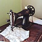 Vintage Sewing Machine Circa 1900 by Susan Savad
