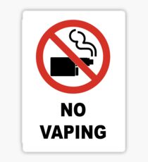 No Vaping Sticker