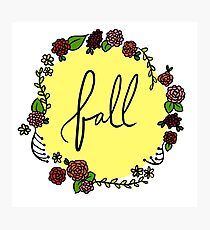 Fall Floral Wreath Photographic Print