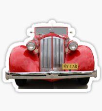 Red Convertible Sticker