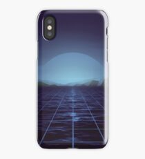 80s retro vaporwave blue ocean edition iPhone Case/Skin