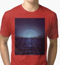 80s retro vaporwave blue ocean edition Tri-blend T-Shirt