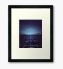 80s retro vaporwave blue ocean edition Framed Print