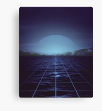 80s retro vaporwave blue ocean edition Canvas Print