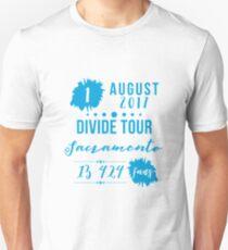 1st August - Sacramento #DivideTour T-Shirt