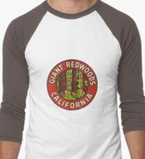 Giant Redwoods Of California Vintage Retro Travel Decal T-Shirt