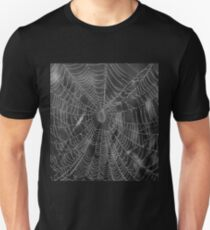 Spider Web With Pearls Of Dew T-Shirt