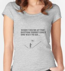Only way is up Women's Fitted Scoop T-Shirt