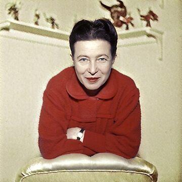 Simone de Beauvoir - Stylized by jaxxmc