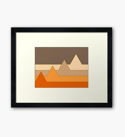 Orange Mountains #redbubble #decor #buyart Framed Print