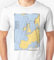 UK Shipping Forecast Map T-Shirt