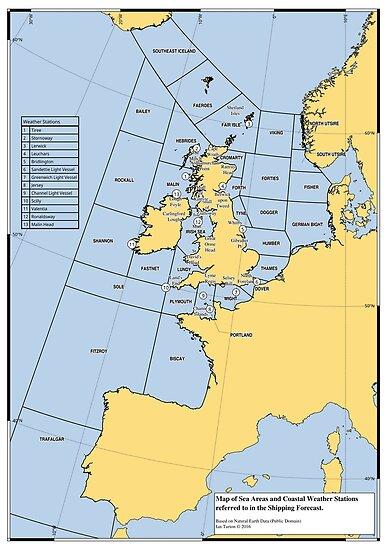 Shipping Forecast Map UK Shipping Forecast Map