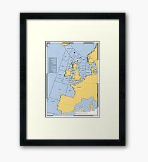 UK Shipping Forecast Map Framed Print