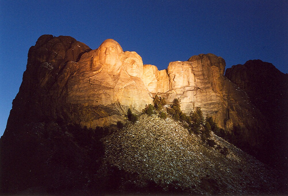 Mt. Rushmore at Dusk by Patricia Montgomery