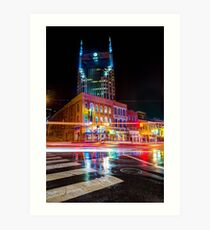 Broadway Lights - Nashville Tennessee Skyline Art Print