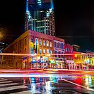 Broadway Lights - Nashville Tennessee Skyline by Gregory Ballos