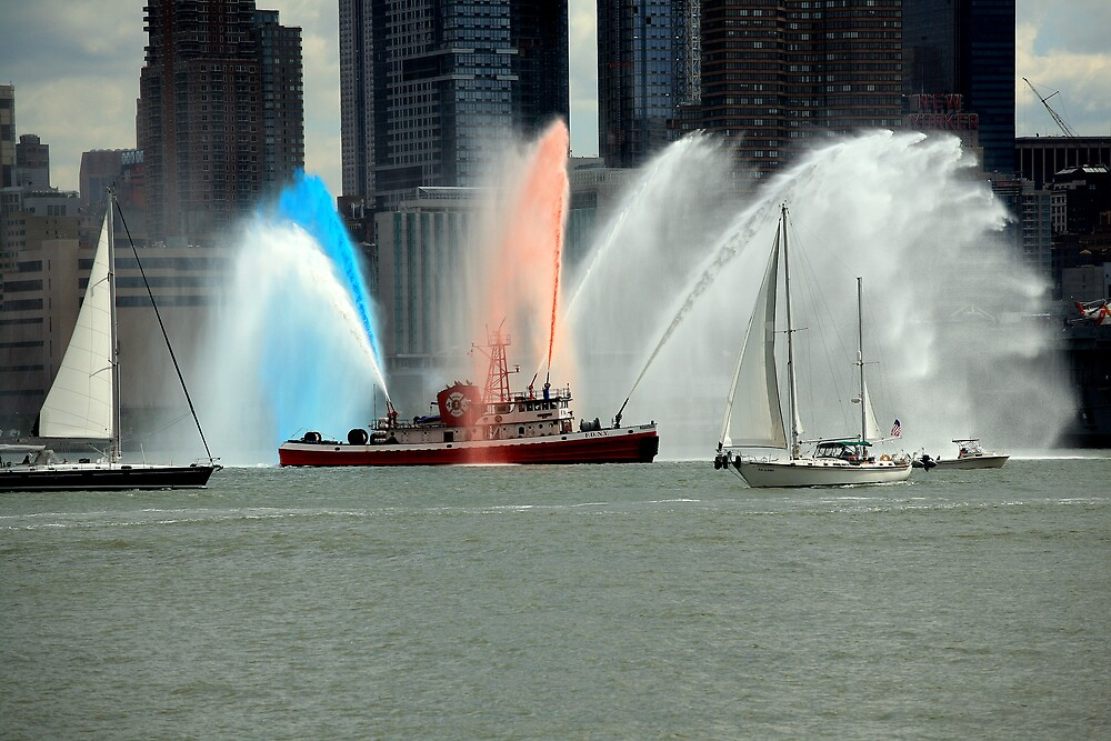 USS Intrepid arrives back at Manhattan berth by pmarella