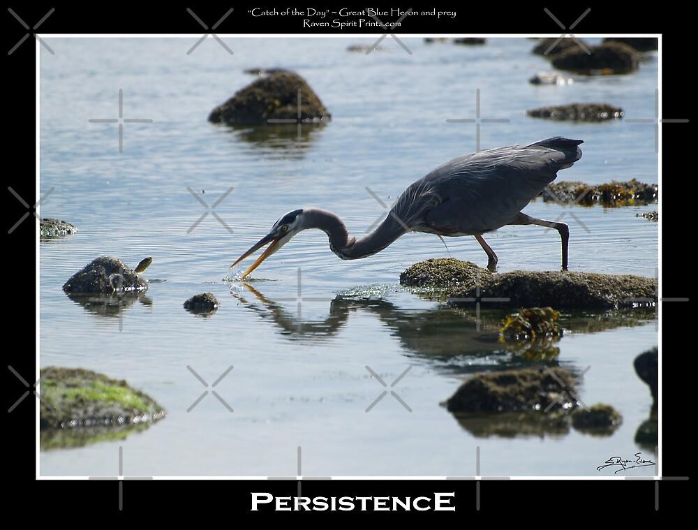 """""""Persistence"""" (Great Blue Heron) by Skye Ryan-Evans"""