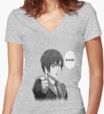 Inuyashiki Bang Women's Fitted V-Neck T-Shirt
