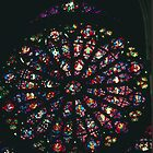 West Rose, Cathedral Reims France 19840823 0036  by Fred Mitchell