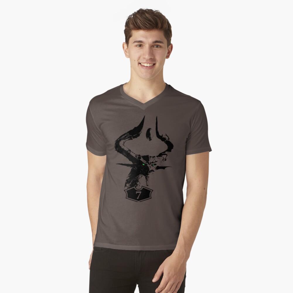 Eldr Blue-Black-Red V-Neck T-Shirt