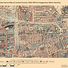 Booth's Map of London Poverty for Haggerston ward, Hackney by ianturton