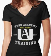 My Hero Academia University Logo Women's Fitted V-Neck T-Shirt