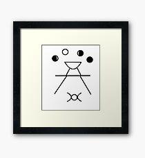 Wicca pattern Framed Print