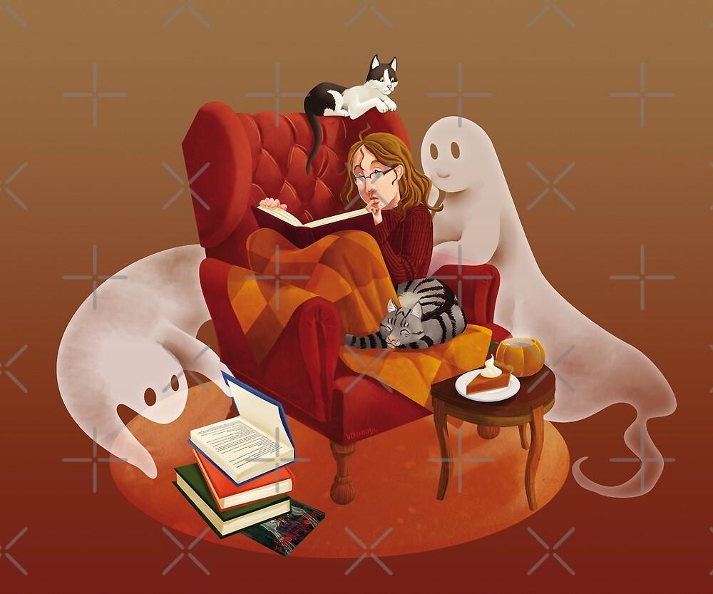 The reader v4, Halloween style by Valériane Duvivier