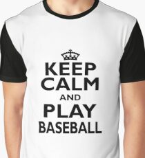 Baseball Sport Gift-Keep Calm and Play Baseball - Funny Present Graphic T-Shirt