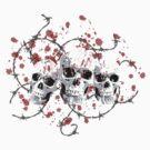 Barbed Skulls by RockHouseCo