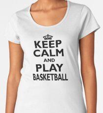 Basketball Sport Gift-Keep Calm and Play Basketball - Funny Birthday Present Women's Premium T-Shirt